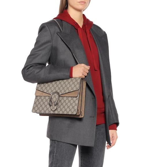Gucci Dionysus Gg Supreme Medium Shoulder Bag Mytheresa Com