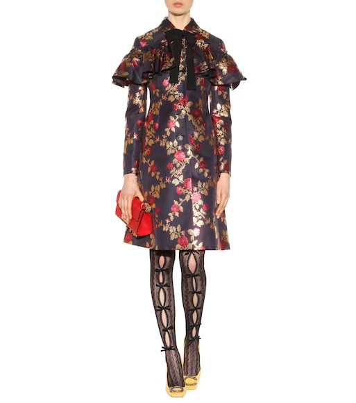 Gucci - Silk-brocade coat - mytheresa.com