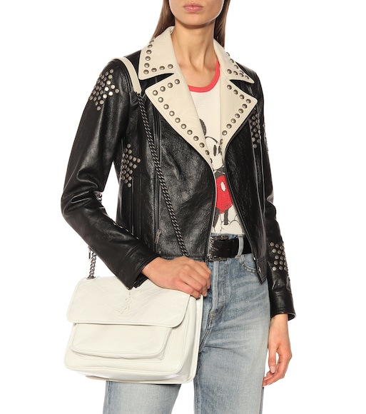 Saint Laurent - Medium Niki leather shoulder bag - mytheresa.com