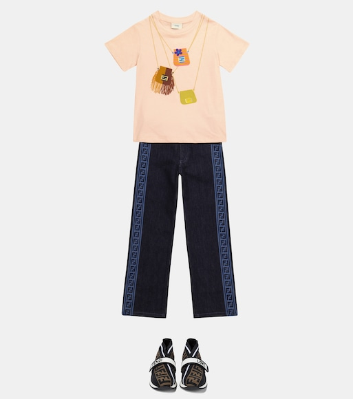 Fendi Kids - FF straight jeans - mytheresa.com