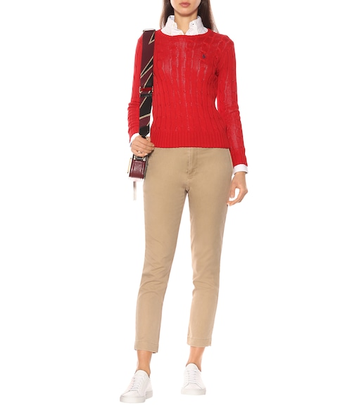 Polo Ralph Lauren - Pima cotton cable-knit sweater - mytheresa.com