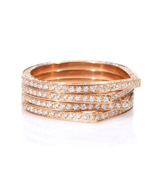 Repossi - Bague en or rose 18 ct et diamants blancs Antifer - mytheresa.com