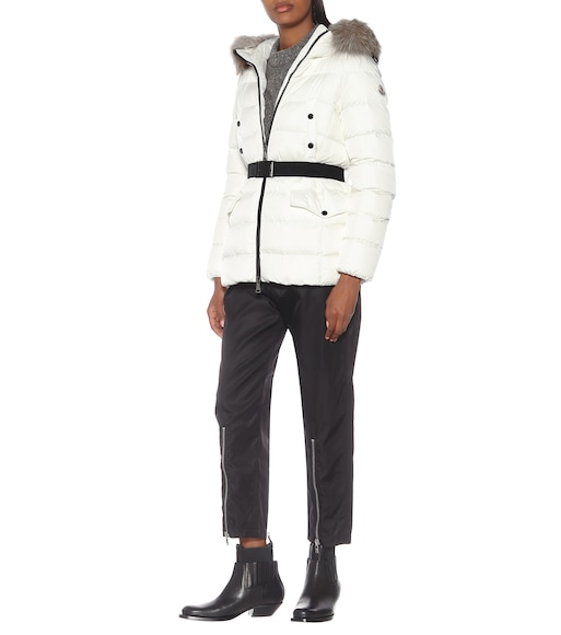 Moncler - Clion quilted fur-trimmed down coat - mytheresa.com