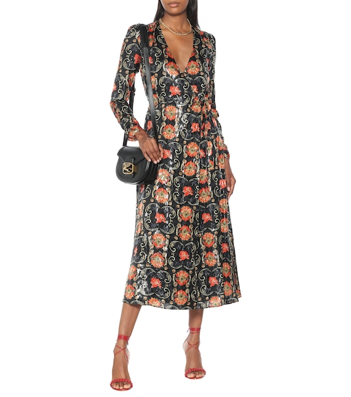 Etro - Printed silk-blend crêpe midi dress - mytheresa.com