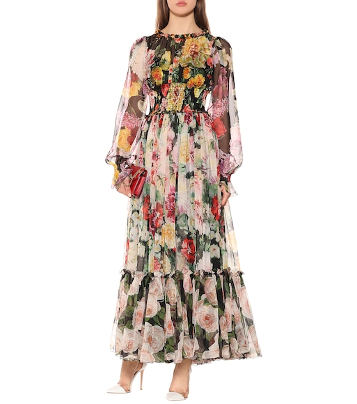 Dolce & Gabbana - Floral silk maxi dress - mytheresa.com