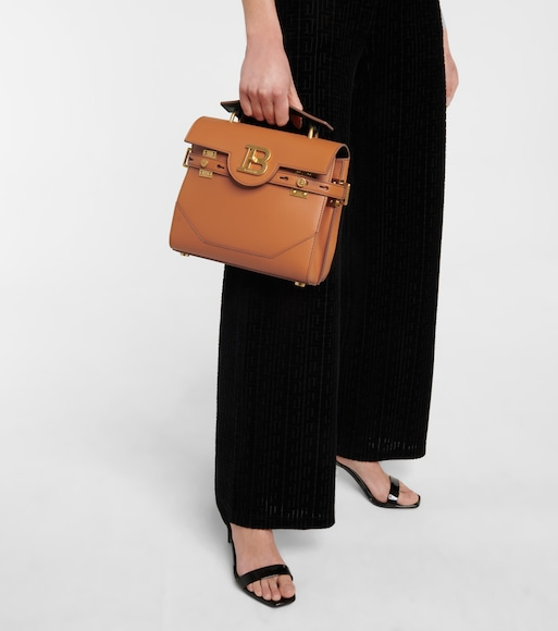 Balmain - B-Buzz 23 Small leather shoulder bag - mytheresa.com