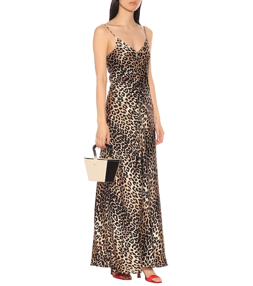 ace6deb7 Ganni - Leopard-printed silk slip dress - mytheresa.com