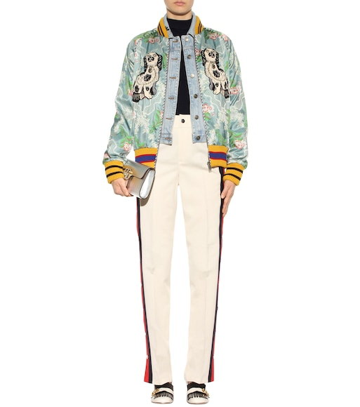 Gucci - Embroidered bomber jacket - mytheresa.com
