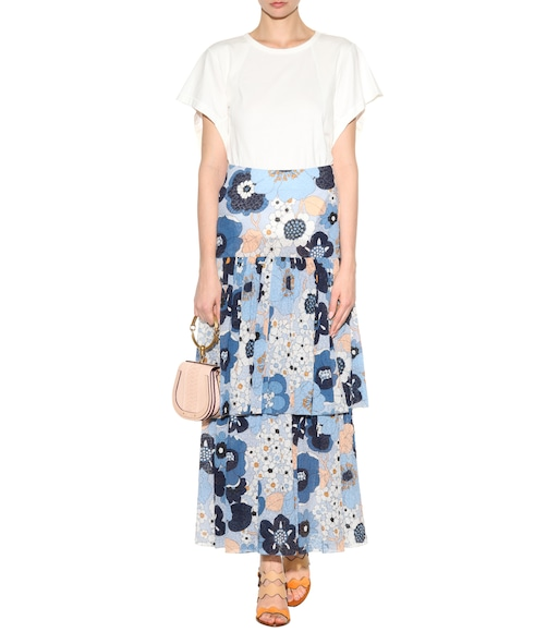 Chloé - Printed cotton seersucker skirt - mytheresa.com