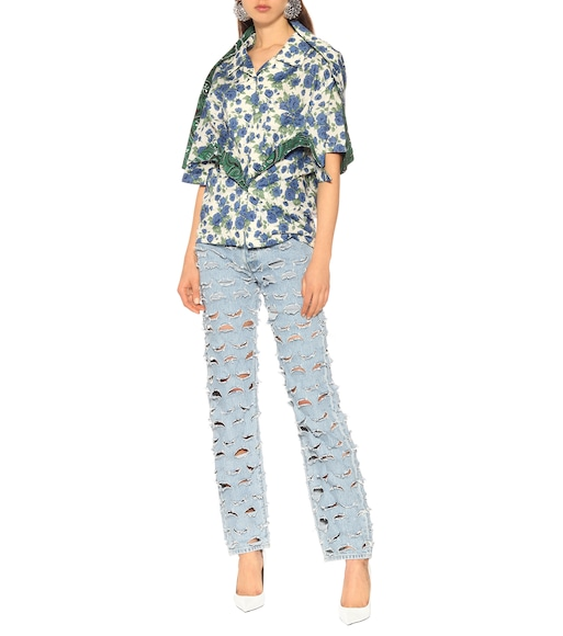 Y/PROJECT - Floral cotton shirt - mytheresa.com
