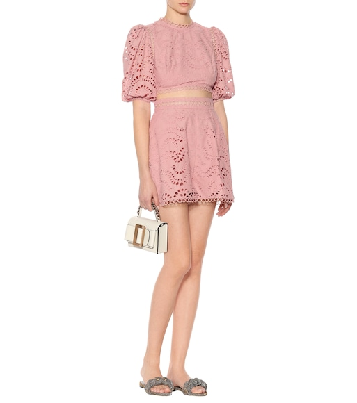Zimmermann - Exclusive to mytheresa.com – embroidered cotton voile shorts - mytheresa.com