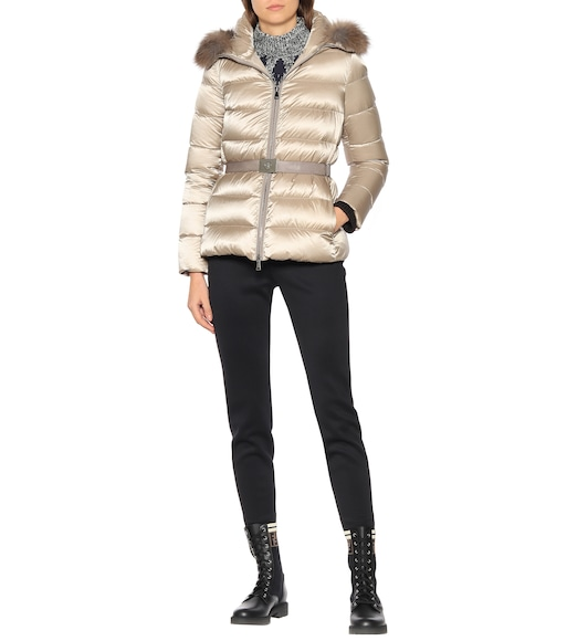 Moncler - Tatie fur-trimmed down jacket - mytheresa.com