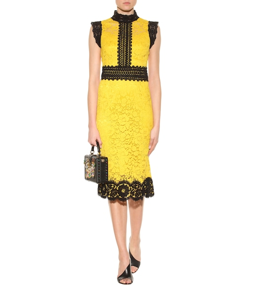 Dolce & Gabbana - Lace cotton-blend dress - mytheresa.com