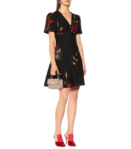 Valentino - Floral silk and wool dress - mytheresa.com