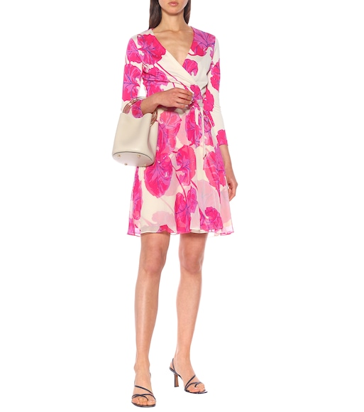 Diane von Furstenberg - Irina printed silk wrap dress - mytheresa.com