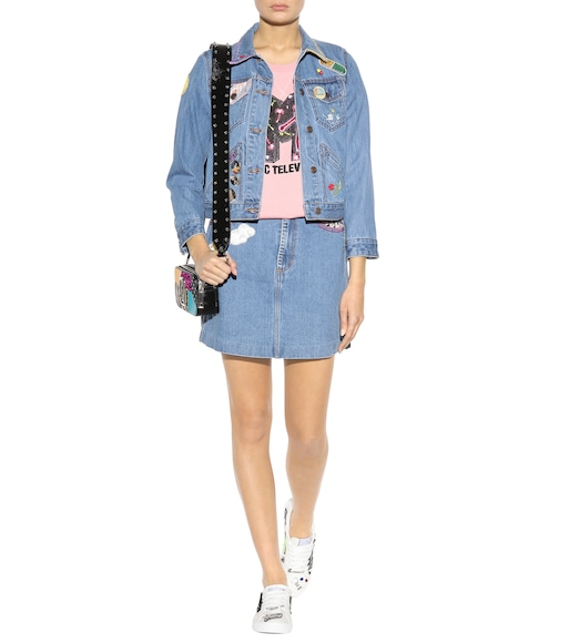 Marc Jacobs - Embellished denim skirt - mytheresa.com
