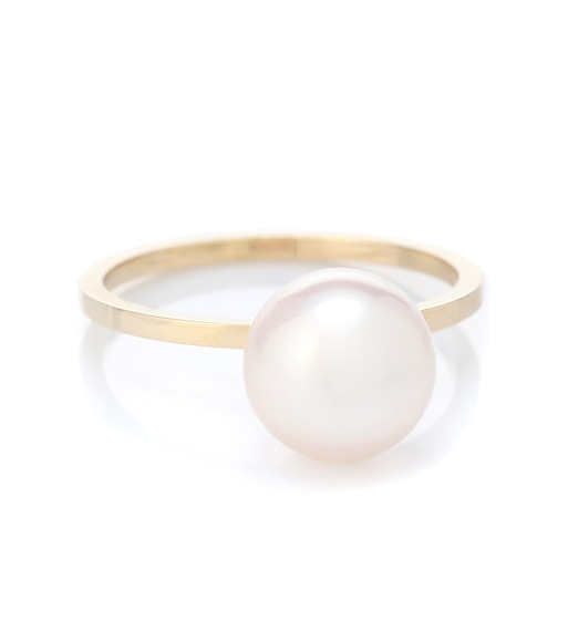 Sophie Bille Brahe - Lisa Grande 14kt gold ring with pearl - mytheresa.com