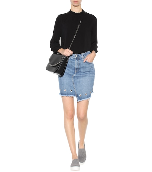 Rag & Bone - Dive embellished denim miniskirt - mytheresa.com