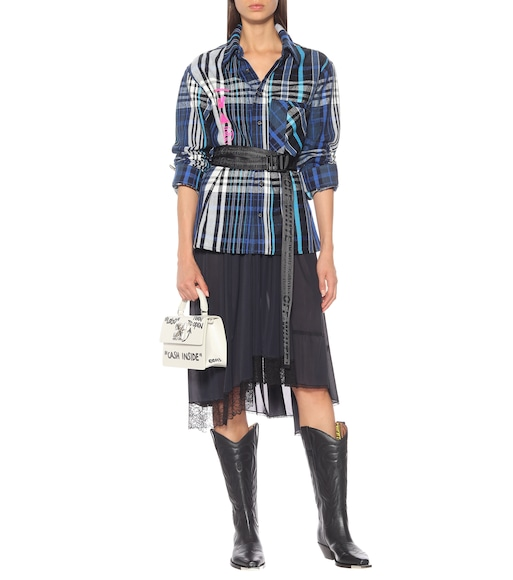 Off-White - Bottes santiags For Walking en cuir - mytheresa.com