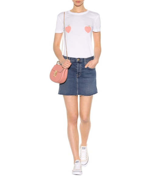Current/Elliott - The Mini Cut-Off jean skirt - mytheresa.com
