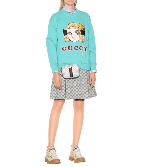 Gucci - Guccy embroidered cotton sweatshirt - mytheresa.com