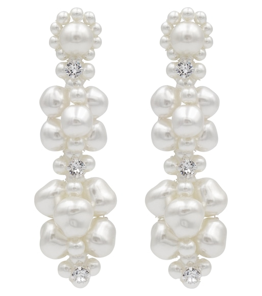 Simone Rocha - Exclusive to Mytheresa – Faux pearl and crystal earrings - mytheresa.com
