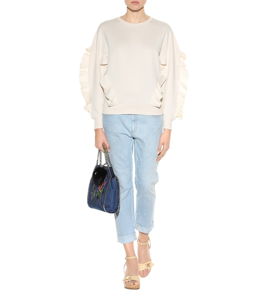 Stella McCartney - Boyfriend-Jeans Star in Distressed-Optik - mytheresa.com