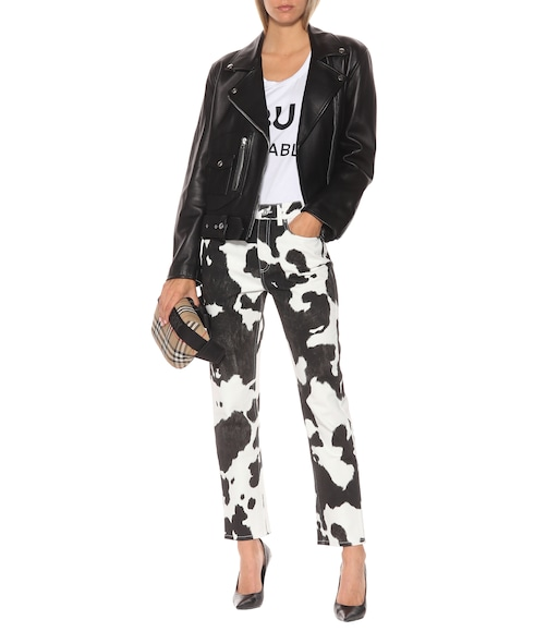Burberry - Printed high-rise straight-leg jeans - mytheresa.com