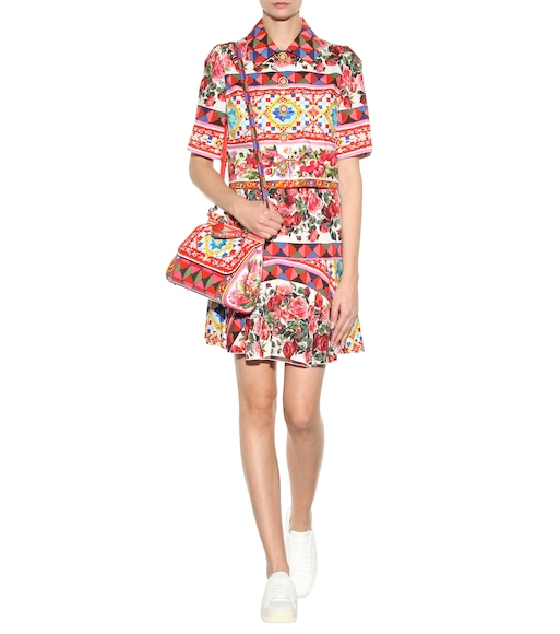 Dolce & Gabbana - Printed stretch-silk skirt - mytheresa.com