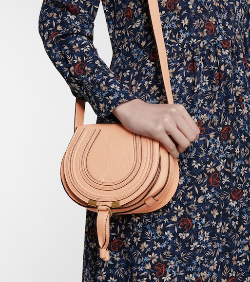 Chloé - Marcie Mini leather shoulder bag - mytheresa.com