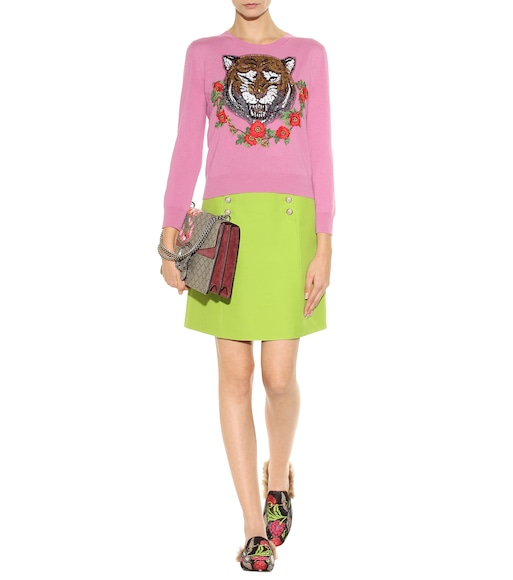 Gucci - Wool and silk skirt - mytheresa.com