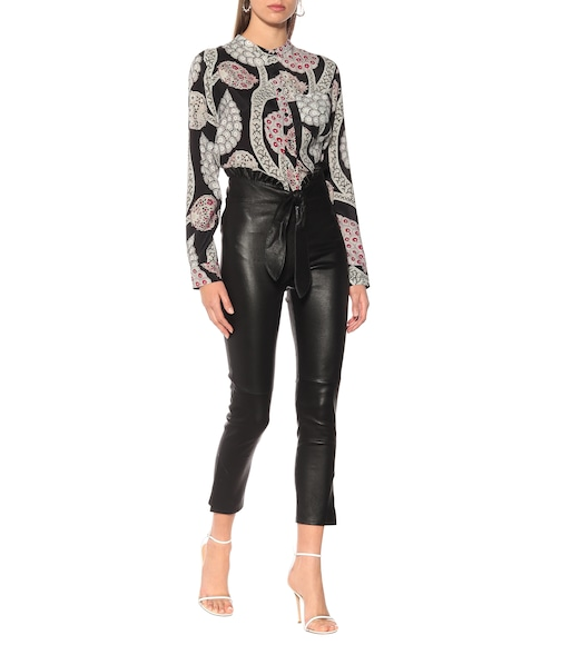 Isabel Marant - Jumpy high-rise slim leather pants - mytheresa.com
