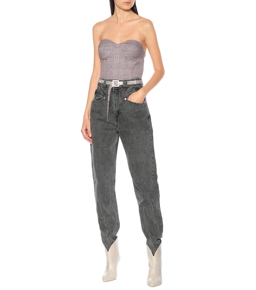 ROTATE BIRGER CHRISTENSEN - Peggy checked stretch-twill top - mytheresa.com