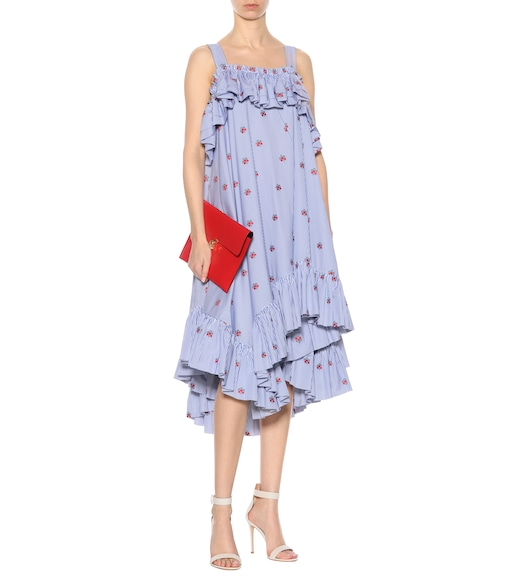100% Original Cheap Price Buy Cheap The Cheapest Embroidered cotton dress Alexander McQueen Sale Clearance Store rVxPLO