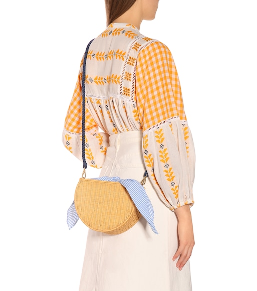 Kayu - Dylan wicker shoulder bag - mytheresa.com
