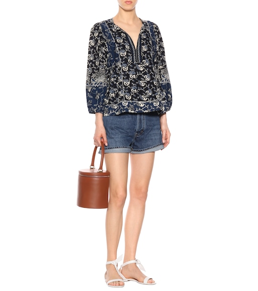 Ulla Johnson - Rami cotton-blend blouse - mytheresa.com