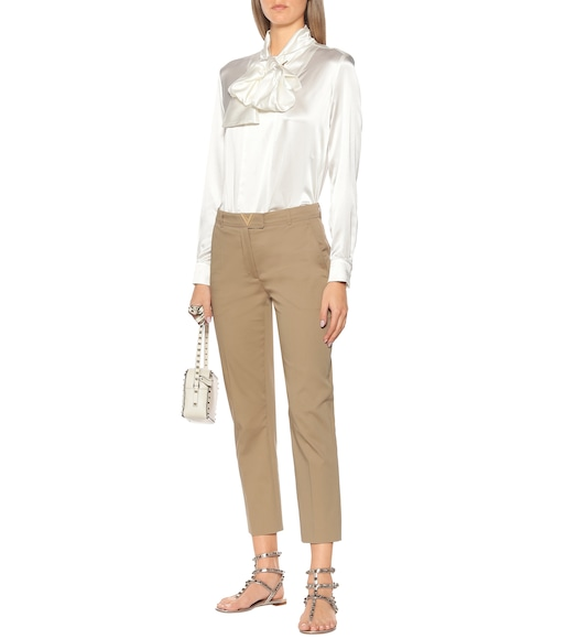 Valentino - VGOLD stretch-cotton pants - mytheresa.com