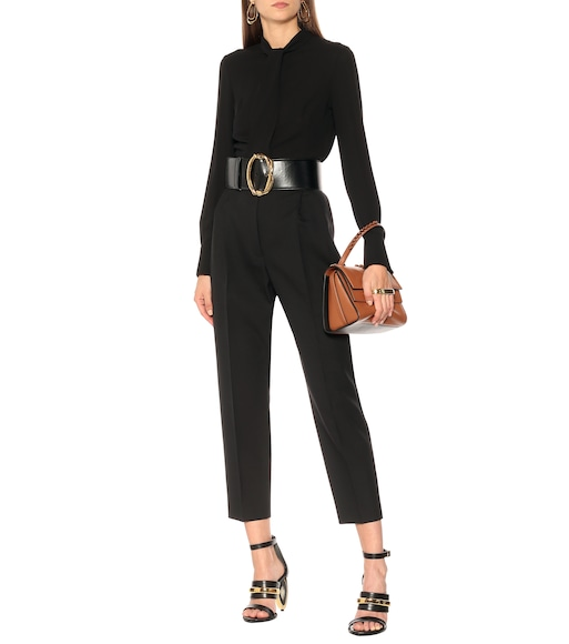 Alexander McQueen - High-rise wool-blend tapered pants - mytheresa.com