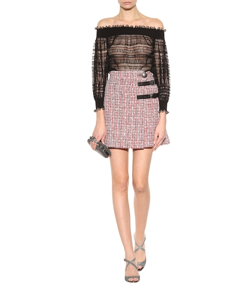 Alexander McQueen - Embellished tweed skirt - mytheresa.com