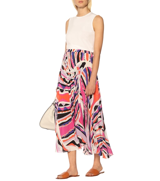 Emilio Pucci Beach - Gonna midi a stampa - mytheresa.com
