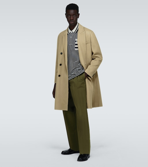 LOEWE - Double-breasted wool-blend coat - mytheresa.com