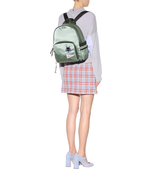 Miu Miu - Appliquéd backpack - mytheresa.com
