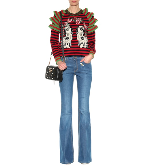 Gucci - Embroidered flared jeans - mytheresa.com