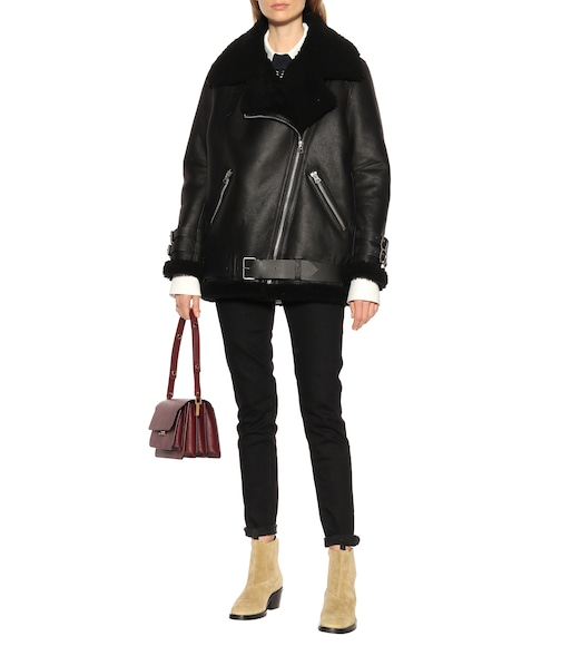 Acne Studios - Velocite shearling-lined leather jacket - mytheresa.com