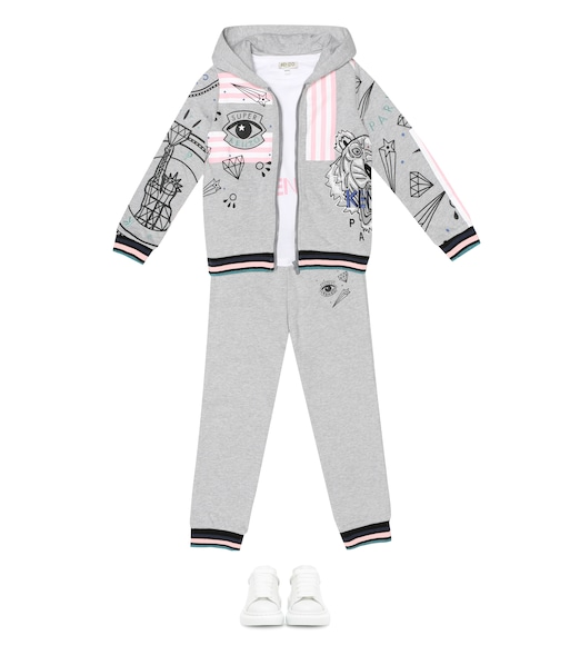 Kenzo Kids - Printed cotton-blend zip-up hoodie - mytheresa.com