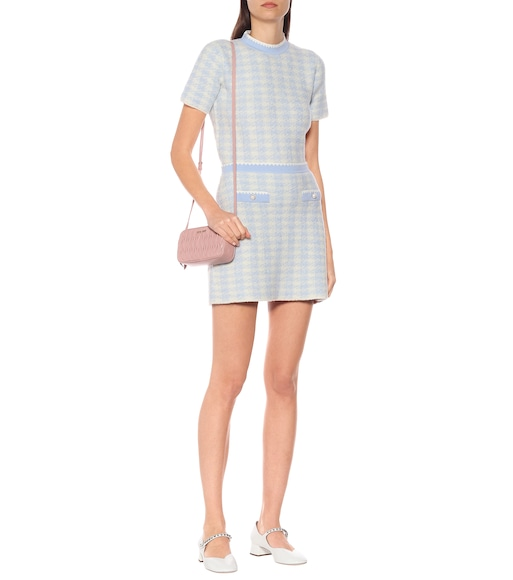Miu Miu - Checked wool-blend top - mytheresa.com