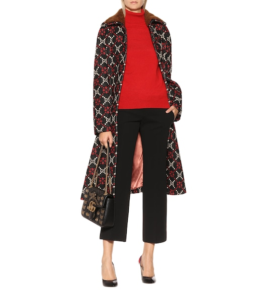 Gucci - GG Diamond wool cape coat - mytheresa.com