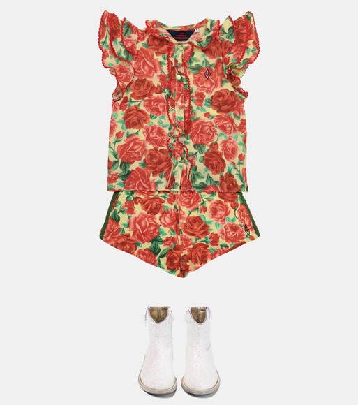 The Animals Observatory - Parakeet floral cotton blouse - mytheresa.com