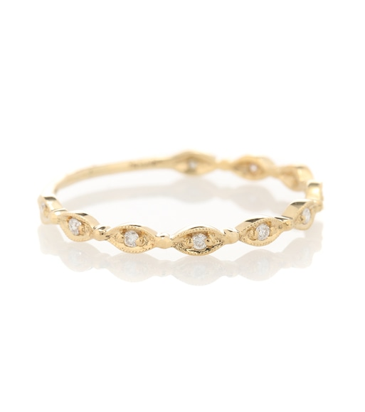 Stone Paris - 18kt yellow gold Yasmine ring with white diamonds - mytheresa.com