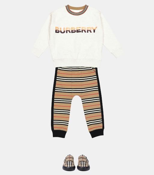 Burberry Kids - Pantalon de survêtement Icon Stripe en coton - mytheresa.com